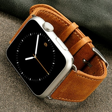 Apple watch armband braun leder